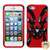 MyBat Spiderbite Hybrid Protector Cover for Apple iPhone 5s/5 - Solid Black / Red