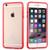 MyBat MyBumper Protector Cover for Apple iPhone 6s Plus/6 Plus - Red / Transparent Clear