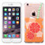 MyBat Gummy Cover for Apple iPhone 6s Plus/6 Plus - Transparent Clear Orange Soda-Summer Soda Collection / Transparent Clear
