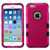 MyBat TUFF Hybrid Protector Cover [Military-Grade Certified] for Apple iPhone 6s/6 - Titanium Solid Hot Pink / Black