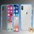 MyBat Bumper Guard Candy Skin Cover for Apple iPhone XS/X - Transparent Clear / Blue