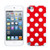 MyBat Candy Skin Cover for Apple iPod touch (5th generation) - White Polka Dots / Red
