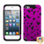 MyBat Flowerpower Hybrid Protector Cover for Apple iPod touch (5th generation) - Titanium Solid Hot Pink / Black