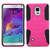 Asmyna Astronoot Protector Cover for Samsung Galaxy Note 4 - Hot Pink / Black