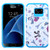 Asmyna Advanced Armor Protector Cover for Samsung G930 (Galaxy S7) - Eiffel Towers / Ribbon / Blue