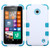 MyBat TUFF Hybrid Protector Cover [Military-Grade Certified] for Nokia Lumia 635 - Ivory White / Tropical Teal
