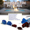 Small Fire Pit Glass size chart