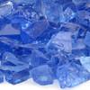 Light Blue Medium Fire Pit Glass