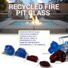 Medium Fire Pit Glass size chart