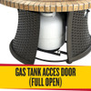 Hermosa gas tank access door