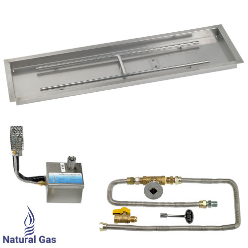 """48"""" x 14"""" Rectangular Stainless Steel Drop-In Pan with AWEIS System - Natural Gas"""