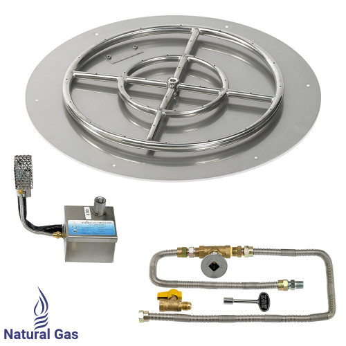 """24"""" Round Stainless Steel Flat Pan with AWEIS System (18"""" Ring)"""