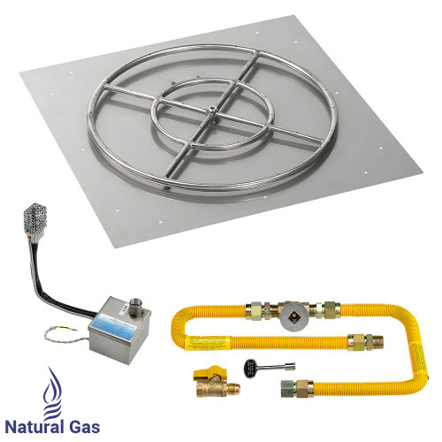 """30"""" Square Stainless Steel Flat Pan with AWEIS System (24"""" Ring)"""