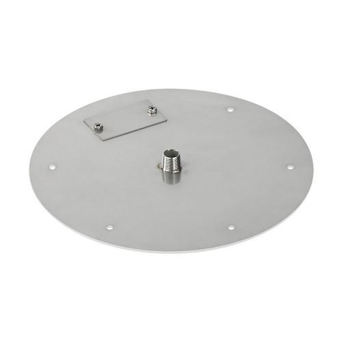 "12"" Round Stainless Steel Flat Pan (1/2"" Nipple) side"