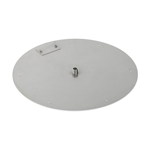 "18"" Round Stainless Steel Flat Pan (1/2"" Nipple) side"