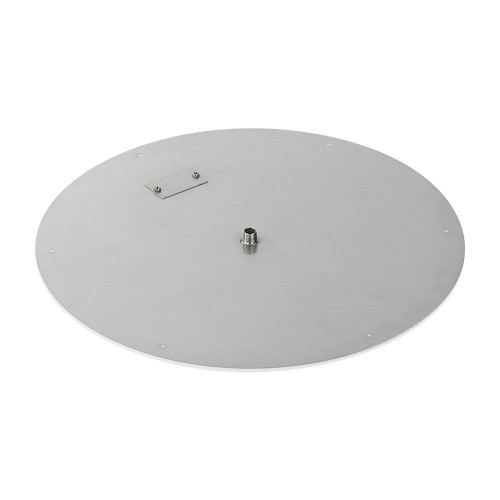 "24"" Round Stainless Steel Flat Pan (1/2"" Nipple) side"