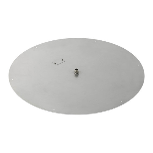 "36"" Round Stainless Steel Flat Pan (1/2"" Nipple) side"
