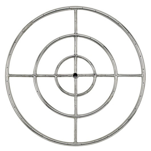 """30"""" Triple-Ring Stainless Steel Burner with a 3/4"""" Inlet"""