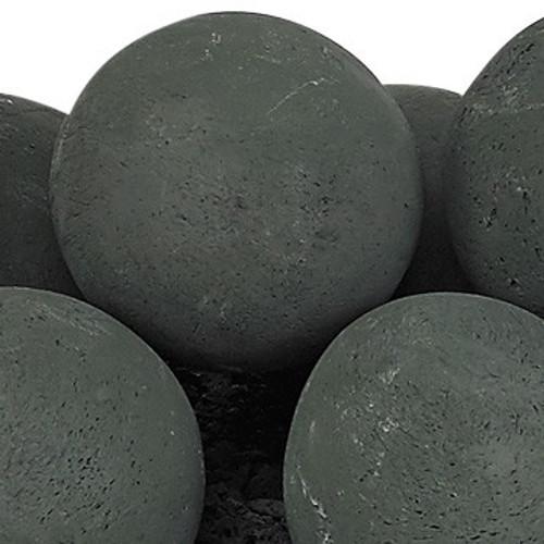 """Matte Black Lite Stone Ball Set - Uniform 4"""""""