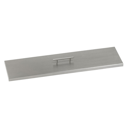 Stainless Steel Cover for Linear Drop-In Fire Pit Pans