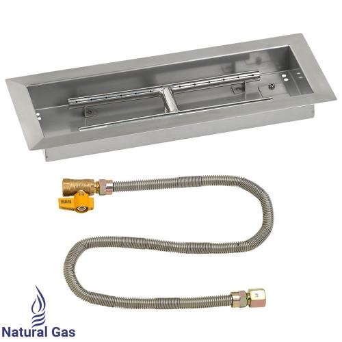 """18"""" x 6"""" Rectangular Drop-In Pan with Match Light Kit - Natural Gas"""