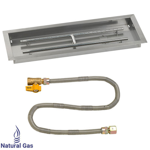 "30"" x 10"" Rectangular Drop-In Pan with Match Light Kit - Natural Gas"