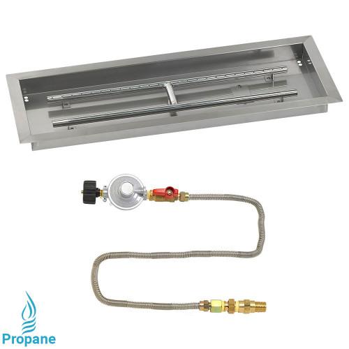 """30"""" x 10"""" Rectangular Drop-In Pan with Match Light Kit - Propane"""