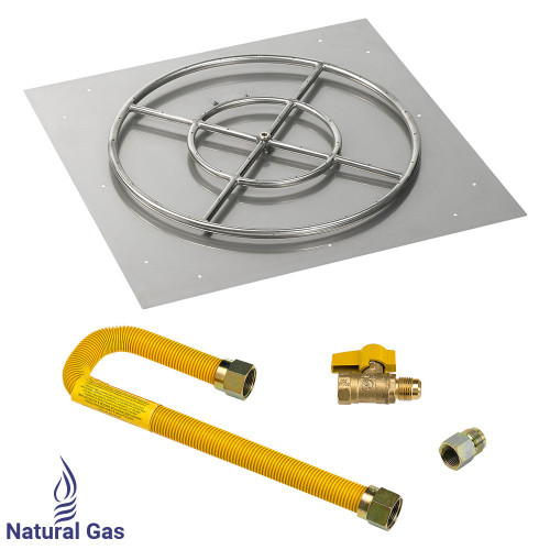 """30"""" Square Flat Pan with Match Light Kit (24"""" Ring) - Natural Gas"""