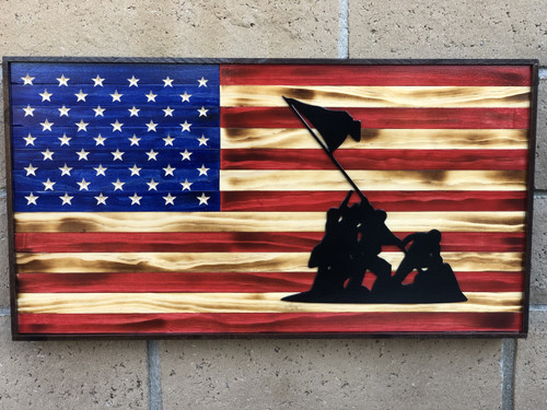 American flag with Marines 3