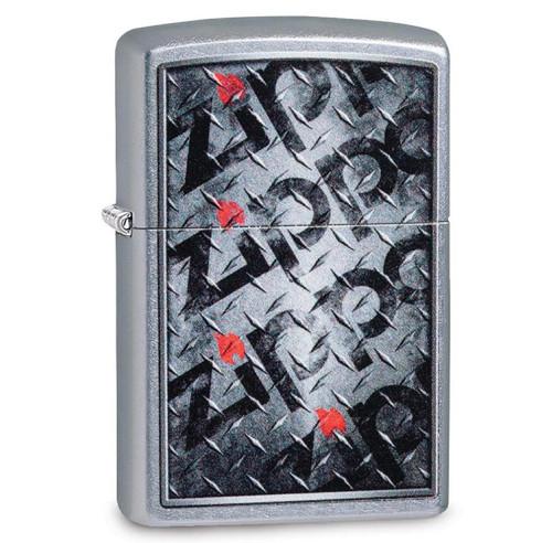 Zippo Street Chrome Diamond Plate Zippo Design Lighter