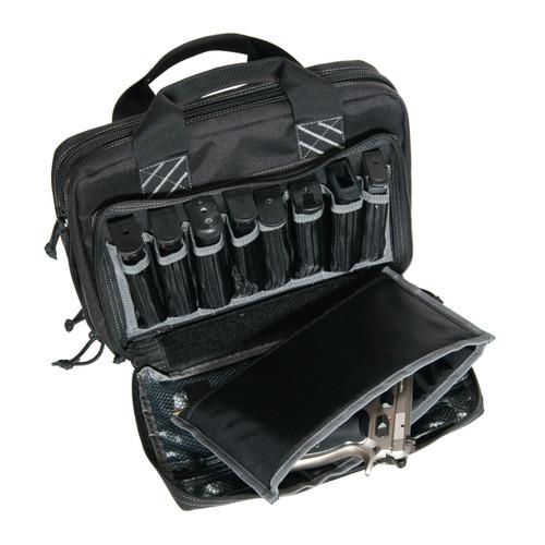 G.P.S. Tactical Quad Plus 2 Pistol Case Black GPS-1311PCB