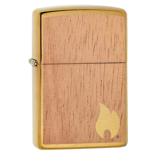 Zippo Woodchuck Mahogany USA Flame Lighter