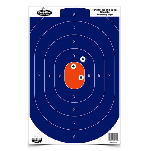 Birchwood Casey 12in x 18in Blue Orange Silhoutte-50 Targets