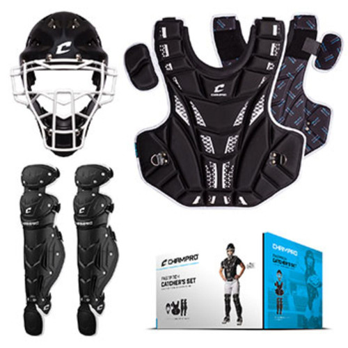Champro Fastpitch Catchers Kit Ages 8 and Under Black
