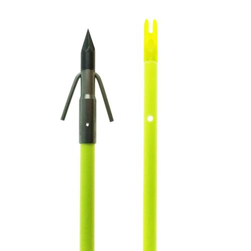 Muzzy Classic Chartreuse Fish Arrow w/ Gar Point