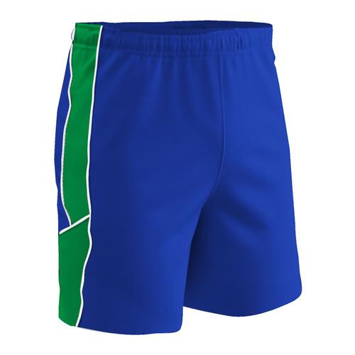 Champro Adult Header Soccer Short Royal Neon Green White