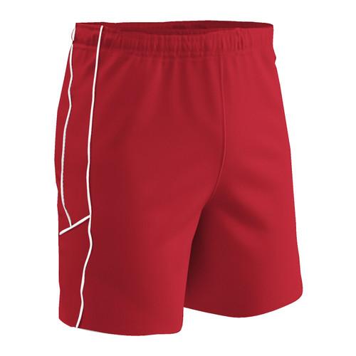 Champro Adult Header Soccer Short Scarlet Scarlet White