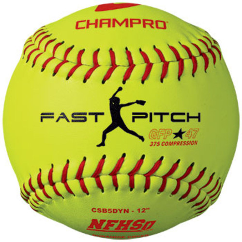 Champro NFHS 12 in Fast Pitch Durahide Cover Softball Dozen