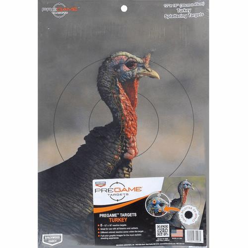 Birchwood Casey Pregame 12x18 Turkey Reactive Target 8 Pack
