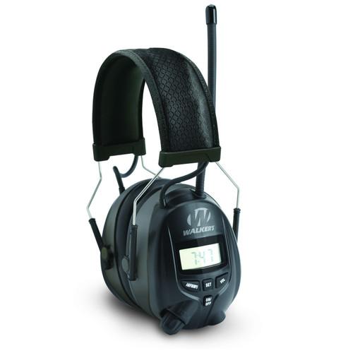 Walkers Digital AM FM Radio Power Muff Black