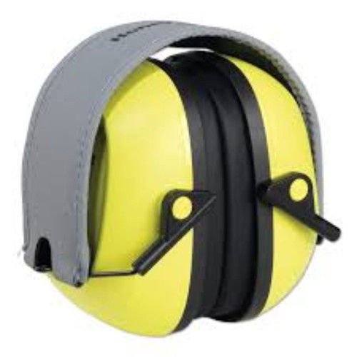 Howard Leight VS120FHV VeriShield Hi-Viz Yellow Folding Muff