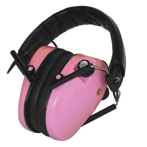 Caldwell E-Max Low Profile Electric Hearing Protection Pink