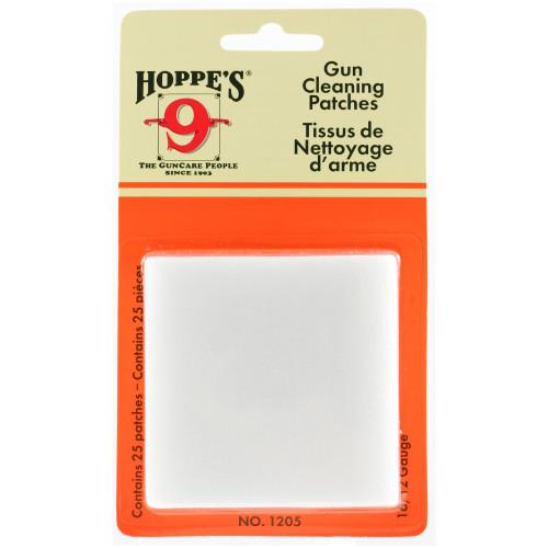 Hoppes Clng Patch 16-12ga 25/bag