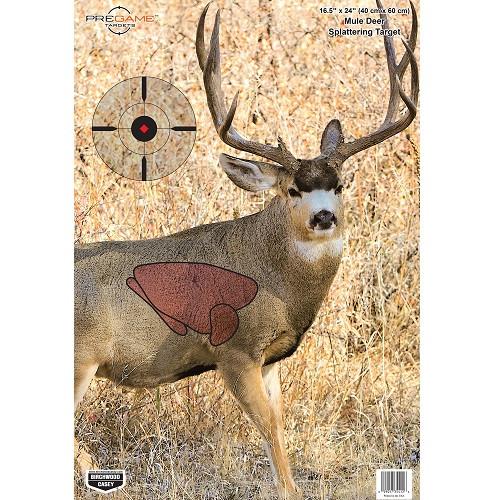 Birchwood Casey Pregame Mule Deer 16.5x 24 Target 3pk