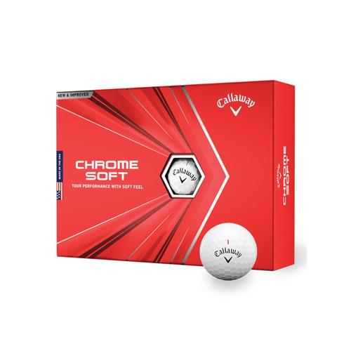 Callaway Chrome Soft 2020 Golf Balls-Dozen-White