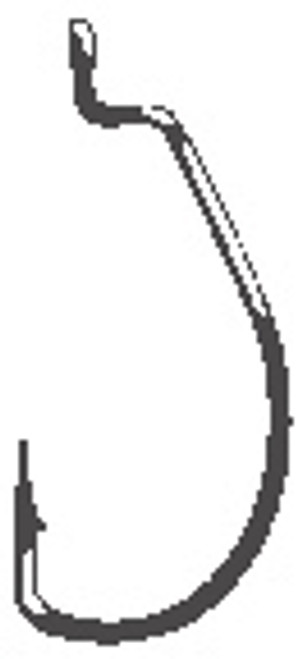 Gamakatsu 5/0 Worm Hook Superline Offset EWG Black 4 Pack