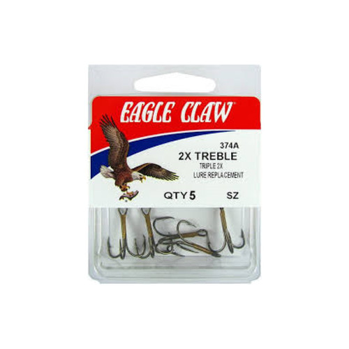 Eagle Claw Treble Reg Shank 5Pk
