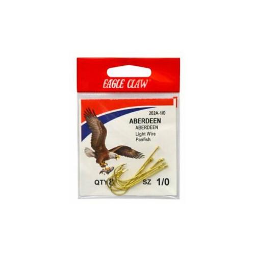 Eagle Claw Gold Abrdn Hooks 10Pk