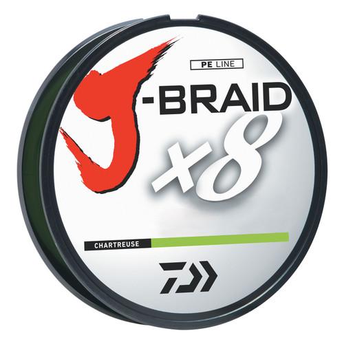 Daiwa J-Braid Chartreuse Fishing Line 330 Yards Test