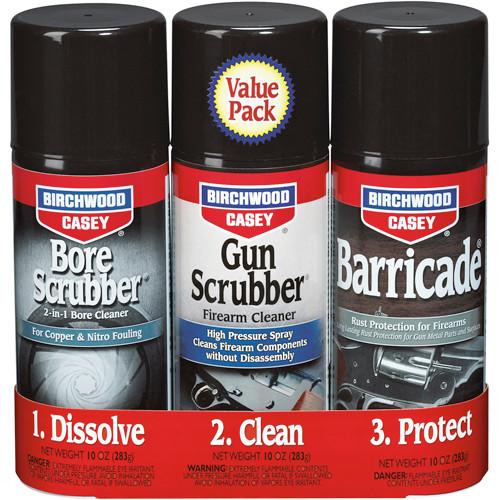 Birchwood Casey 1 2 3 Gun Bore Scrubber and Barricade Kit